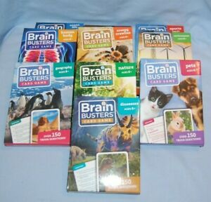 Brain Busters Card Game 150 Questions Kid's Or Adult Trivia Game