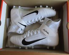 NIKE ALPHA MENACE ELITE 2 FOOTBALL MOLDED CLEATS WHITE/BLACK MENS SIZE 13