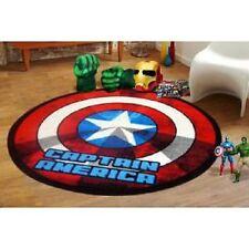Captain America Shield Round Kids Rug - 100cm