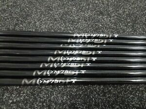 8 x Callaway M75i X Flex Iron Shaft Set 2i-9i 0.370 Parallel New