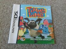 Nintendo ds booklet instructions manual timmy time