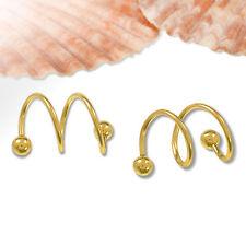 2pc 16G Twist Helix Ear Stud Earrings Ring Cartilage Body Ear Piercing Jewelry