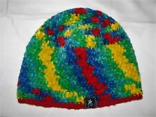 Crocheted Beanie Hat Acrylic Adult Multi Color Skull Cap Rasta Hippie Hand Made