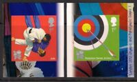 GB 2010 sg3020-1 Olympic & Paralympic 1 Judo Archery Sport self adhesive MNH
