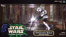 Hasbro Star Wars 2000 The Power of the Force Speeder Bike w/Scout Trooper 12in