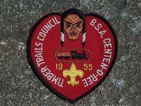 BSA Boy Scout Timber Trails Council 1955 Patch Boy Scout Patch Vintage Michigan