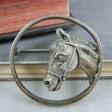 Beau Sterling Silver Horse Head Pin / Brooch