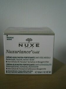 NUXURIANCE GOLD CREME-HUILE JOUR  NUTRI FORTIFIANT ANTI AGE 50 ML