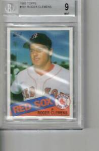 #181  ROGER CLEMENS  rc 1985  TOPPS  BGS 9  red sox