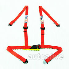 Car Turnk 4 Point 1.85 inch width Racing Seat Belt Safety Harness Universal Red