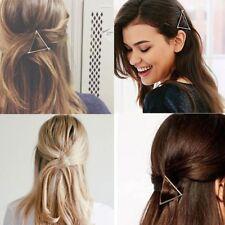 Geometric Alloy Minimalist Hair Clip Triangle Hairpin