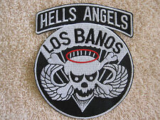 "Army Airborne ""HELLS ANGELS LOS BANAOS"" SKULL WINGS & HALO PATCH ""FREE SHIPPING"""