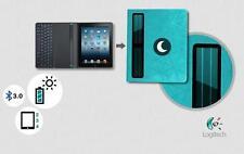 Logitech Solar Keyboard Folio BLEU Clavier Sans Fil pour iPad2/iPad3/iPad4