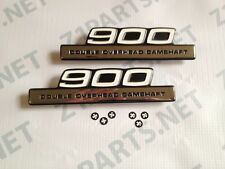Kawasaki Z1 900 Z1B SIDE COVER EMBLEMS 1975 VINTAGE (Pair)