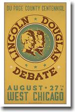 Lincoln- Douglas Debate Vintage WPA Art - POSTER