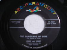 Cindy & Lindy Language of Love Original 1957 45rpm VG+