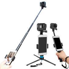 TELESIN Extendable Aviation Selfie Stick+3-way Monopod Tripod for Camera Mount