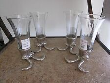 Two's Company Animal Head Shooter Glasses Silver Tone Set of 4