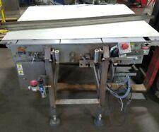 "50"" x 60"" Stainless Steel Sanitary White Belt Conveyor food grade"
