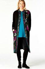 J. Jill - 4X(Plus) - Luxurious Black Multi Floral Jacquard Topper - NWT