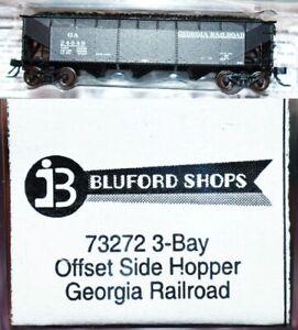 Georgia Railroad 24049 Offset Side Hopper Bluford Shops N Scale JA19.13
