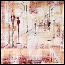Joram Neumark Streetlife II Brown póster imagen son impresiones artísticas en el marco de aluminio 60x60cm