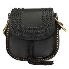 NEW and AUTHENTIC Chloe Hudson Calfskin Shoulder Bag   Black with Gold Hardware