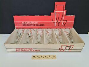 KITSCH DEMA OF CHESTERFIELD ~WHEAT~ champagne cava prosecco flutes x 6 **boxed**