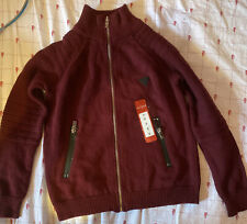 Brand New Guess Boy Cardigan Maroon Size 8