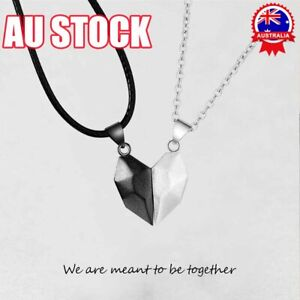Two Souls One Heart Necklace Couple Neck Chain Valentine's Day Pendant Gift ON