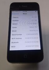Apple iPhone 4 - 32GB -Black (Verizon) A1349 - Fully Functional - Read Below