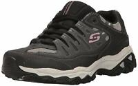 Skechers Mens Memory Fit 50125 Low Top Lace Up Running, Charcoal/Black, Size 9.0