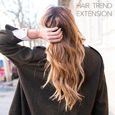 Extensiones de pelo sintético castaños