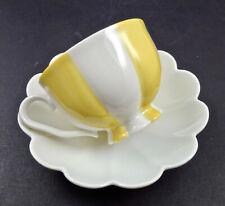 Art Deco Augarten Demitasse or Mocha Cup & Saucer, Yellow