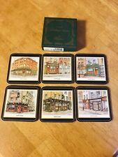 Never Used Pimpernel Irish Heritage Series Irish Pubs Cork Drink Coasters Set 6