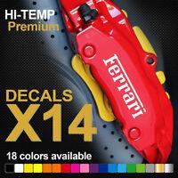 Ferrari HI-TEMP PREMIUM BRAKE CALIPER DECALS STICKERS CAST VINYL