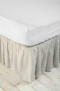 Urban Outfitters Gray Ruffle Queen Bedskirt