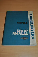 Werkstatthandbuch GM Chevrolet Monza 1978 Shop Manual 3,2 3,3 5,0 2,5 L Engine