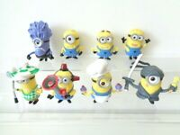 Despicable Me 2 Minions Set of 8 Figures or Cake Toppers by Thinkway Toys