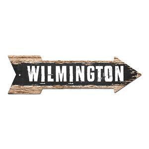 AP-0159 WILMINGTON Arrow Street Tin Chic Sign Name Sign Home man cave Decor