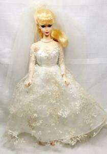 WEDDING DAY Barbie 1960 Reproduction Doll 1996 Blonde Bride Bridal Gown