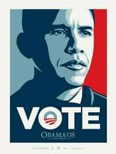 OBAMA VOTE CAMPAIGN POSTER : OBEY GIANT : SHEPARD FAIREY