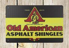 wall decor Roofing sign Old American Asphalt Shingles metal tin sign