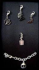 "Charm Bracelet The Nightmare Before Christmas Enamel  7"" Lobster Claw Metal"