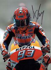 Marc MARQUEZ 2017 SIGNED 16x12 Autograph Photo 1 AFTAL COA MOTOGP Honda Rider