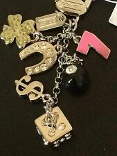 NWT COACH LUCKY MIX KEY CHAIN Ring Fob with Dust Bag & Receipt F 92784 -msrp $58
