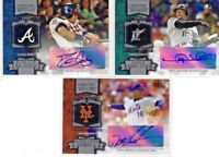 2013 Topps Chasing History Auto's David Justice,Gary Sheffield,Dwight Gooden CHA