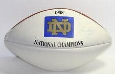 LOU HOLTZ 1988 PLAYER SIGNED NOTRE DAME NATIONAL CHAMPIONS WILSONS 1001 FOOTBALL