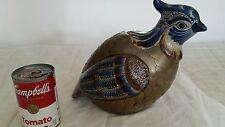 "Large 12"" Mixed Media Ceramic Brass Pheasant -Manner of Sergio Bustamante"