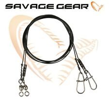 Savage Gear Black 7 Coated Steel Wire Traces Lure Predator Fishing Tackle Pike